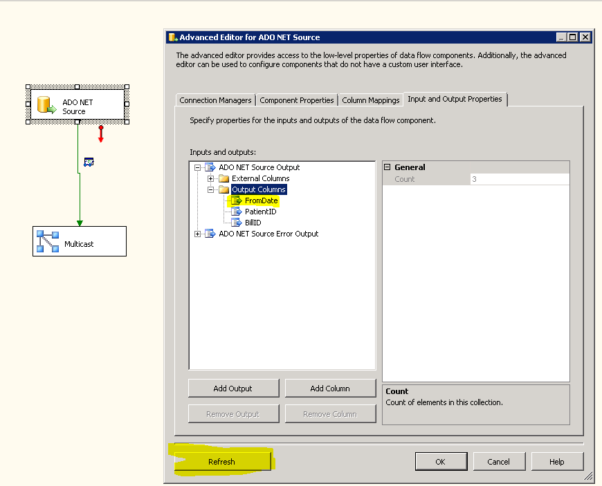 SSIS: Using Expressions to build SQL Statements for ADO NET